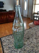 Vintage 26 oz. COCA~COLA Family Size GREEN GLASS BOTTLE ~ EMPTY