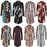 Ladies Multi Colour Stripe Shirt Dress Women Floral Belted Top Blouse Tie Belt