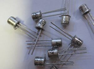 10 x  2N2369A Transistor   NPN  40V 0,2A  TO18  STMicroelectronics NOS