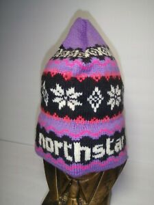 Northstar At Tahoe Stretch Knit Winter Beanie Hat Unisex 100% Wool made in USA