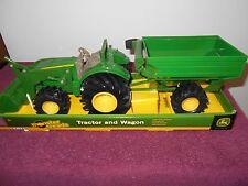 Ertl John Deere Monster Treads Tractor w/Loader and Wagon Set #46260 NIB