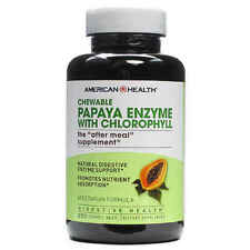 Papaya Enzyme with Chlorophyll, 250 Chewable Tablets - American Health
