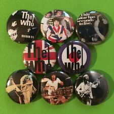 "THE WHO 1"" buttons badges PETE TOWNSHEND ROCK AND ROLL"