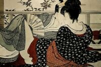 Kitagawa Utamaro Lovers In An Upstairs Room Poem Of The Pillow Poster - 18x12