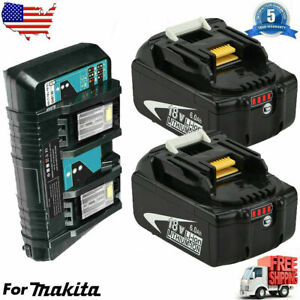 18V For Makita 6.0Ah Lithium-ion Charger or Battery LXT BL1860 BL1830 BL1850 US