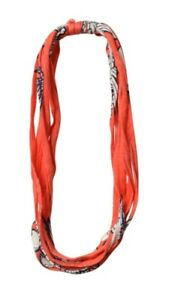 DONA BELLA SHREDS Floral Orange BelaBand ~ Headband ~ Wristwear ~ Neckwear