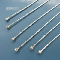 Solid Sterling Silver 2mm Ball Head Pins, for Making Charms [Choose Size]