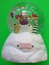 2002 HALLMARK STATE FARM SNOW GLOBE TIMBER VILLAGE SNOWMAN NEW IN BOX,