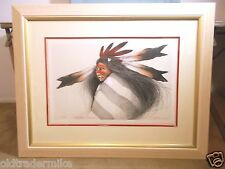 Frank Howell -  Pine Ridge Dancer-1991-Lithograph-110/140-Framed and matted