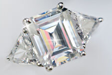 3 ct Emerald Cut 6ct tw Top Russian Quality CZ Imitation Moissanite Simulant S 7