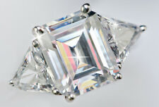 3 ct Emerald Cut 6ct tw Top Russian Quality CZ Imitation Moissanite Simulant S 6