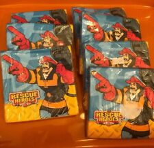 Rescue Heroes Birthday Party Supplies Small Napkins Lot Firefighter