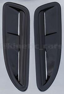 Jaguar XKR style ABS plastic bonnet vents Gloss black finish RS VXR Ford BMW