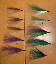 Bucktail River Streamer Flies- Hand Tied - Walleye, White Bass, Salmon (6)