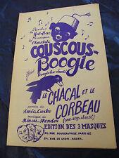 Partition Couscous Boogie Le chacal et le corbeau Claudric  Music Sheet