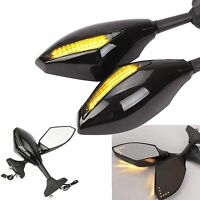 Motorcycle Rear View Side Mirrors LED Turn Signals For Honda CBR600 F1/F2/F3/F4