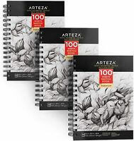 "ARTEZA Art Sketchbook, 5.5"" x 8.5"", 100 Sheets, Pack of 3"