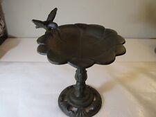 "8 3/4"" Tall Cast Iron Bird Bath With Hummingbird- Decorative"