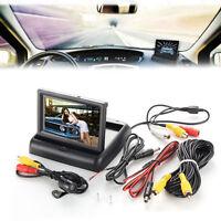 """4.3"""" LCD HD Car 170° Rear View Monitor Backup Reverse Night Vision Camera Kit"""