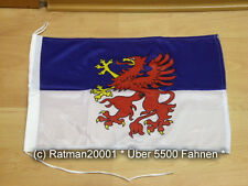 Fahnen Flagge Pommern Bootsfahne Tischwimpel - 30 x 45 cm
