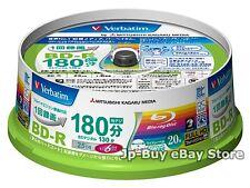 20 Verbatim Bluray Disc 6x Speed 25 GB BD-R Inkjet Printable Blu ray Recordable