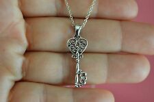 925 Sterling Silver Key shape Pendant Necklace