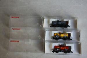 Fleischmann piccolo Wagenset 3tlg 8824 8845 8846 K Kesselwagen Olex Dapolin OVP