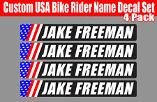 4 piece Custom Bicycle Frame Name USA decal sticker set road bike Cycling