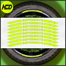 Fluorescent Yellow Motorcycle SUPERMOTO Wheel Stickers rim tape Safety HiViz 701