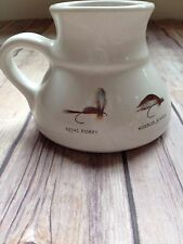 Fly FISHING Mug Woolrich White No Slip Bottom Holds 12 ounces No Spill