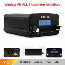 US 7W Stereo Audio FM Transmitter Mini Radio Broadcast PLL Station 76MHz-108MHz