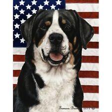 New ListingPatriotic (D2) Garden Flag - Greater Swiss Mountain Dog 321441
