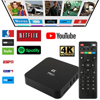 4K Android TV Box Ultra HD Media Player WIFI Smart Streamer Quad Core 3D Home