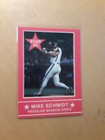 "1983 Star Mike Schmidt ""Ten Years of Excellence"" #2 Philadelphia Phillies, HOF."