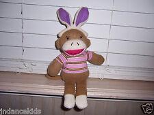 "12"" Dan Dee Collector's Choice Sock Monkey Easter Ears"