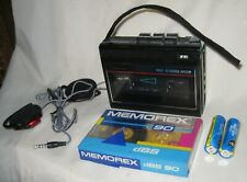 Vintage Sanyo M1130 Voice Activated System Cassette Tape Recorder Bundle Working