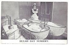 HULME Day Nursery, Manchester, Old Postcard Unused