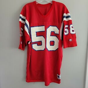 VTG 80s Champion NFL New England Patriots Andre Tippett 56 Jersey Men XL Red