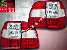 98-05 TOYOTA LAND CRUISER FJ100 RED/CLEAR L.E.D.TAIL LIGHTS TRUNK 4 PIECES