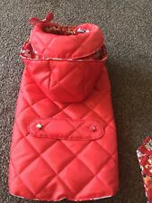 Maisie-Moo size Medium Waterproof Dog Coat Polycotton lined handmade length 38cm