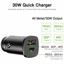 BASEUS 30w Dual USB Quick Charge Qc 4.0 Car Fast Charger for iPhone Samsung LG