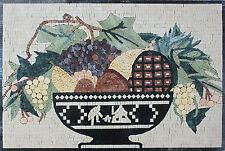 Ancient Celtic Fruit Bowl Pineapple Marble Mosaic Fl761
