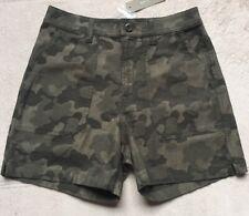 J. Crew Womens or Girls Camouflage Cargo Shorts, Sz 00, Green, Zipper, Pockets