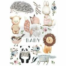 "Re-design Prima Hello Baby Nursery Furniture Decor Transfer 22""x 30"""