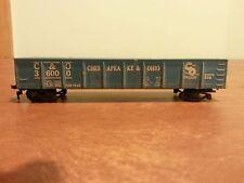 Vintage Model Toy Railroad Train Car Chesapeake & Ohio Open Car
