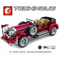 617Pcs Vintage Car Banz Mustang Bricks Building Blocks Toys Trucks Kids Diy Gift