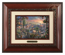 Thomas Kinkade Lady and the Tramp Framed Brushwork (Brandy Frame)
