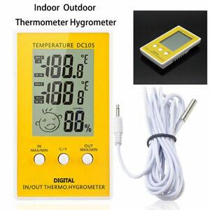 Thermometer Digital Großer LCD Temperatur Hygrometer Termometer Luftfeuchtigkeit