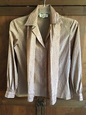Vintage 70s Lady Manhattan Blouse with Scarf Retro Funky Hipster 12