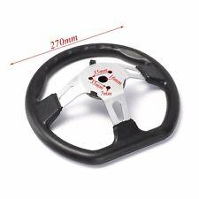 """000005E7 10.6"""" Steering Wheel w/ Cap for Go Kart Dune Buggies Hammerhead Roketa TaoTao"""